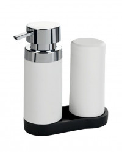 Set 2 dispensere cu suport din polirasina si silicon 250 ml Easy Squeez Station Wenko