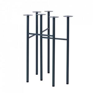 Set 2 picioare din metal pentru masa Mingle Dark Blue Ferm Living