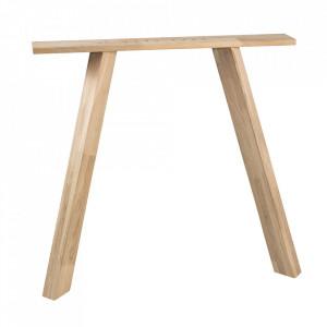 Set 2 picioare pentru masa din lemn de stejar Ovka Woood