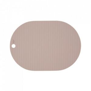 Set 2 protectii masa ovale roz din silicon 33x46 cm Ribbo Oyoy