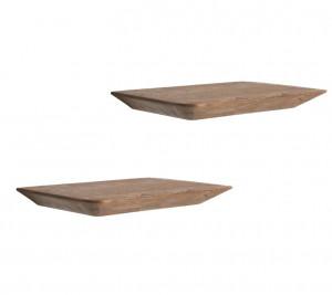 Set 2 rafturi maro din lemn Craftsman Raw Materials