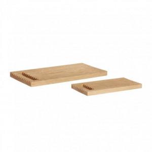 Set 2 tocatoare dreptunghiulare din lemn Evans Hubsch