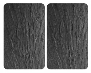 Set 2 tocatoare dreptunghiulare negre din sticla 40x52 Universal Slate Wenko
