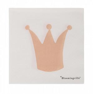 Set 20 servetele albe 25x25 cm Crown Bloomingville