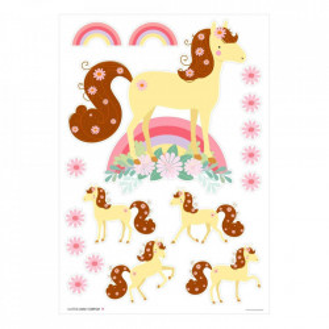 Set 28 stickere pentru perete multicolore din vinil Horse A Little Lovely Company