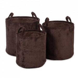 Set 3 cosuri maro inchis din textil Ebby Kids Depot
