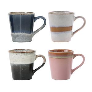 Set 4 cani pentru cafea din ceramica 80 ml Dena HK Living