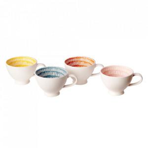 Set 4 cesti multicolore din portelan Seeds Pols Potten