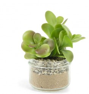 Set 8 plante artificiale in ghiveci din sticla 15 cm Flower La Forma