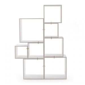Set 8 rafturi albe din lemn Assemblage Seletti