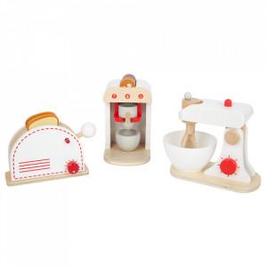 Set de joaca 12 piese din lemn Kitchen Appliance Small Foot