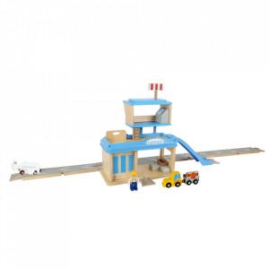 Set de joaca 22 piese din MDF si plastic Airport Small Foot