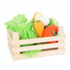 Set de joaca 6 piese din lemn si fetru Vegetables Small Foot