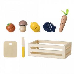 Set de joaca 8 piese din placaj si MDF Vegetables Bloomingville