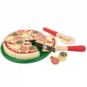 Set de joaca din lemn de pin si placaj Pizza Small Foot