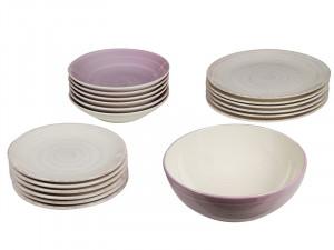Set de masa 19 piese din ceramica Twist Lilac Santiago Pons