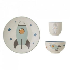 Set de masa 3 piese din ceramica Space Bloomingville Mini