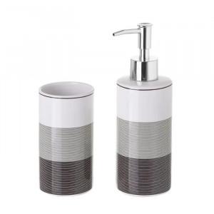 Set dispenser si suport din ceramica Lines Unimasa