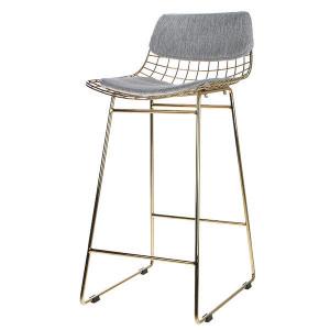 Set perne bumbac gri pentru sezut si spatar scaun bar HK Living