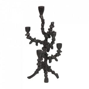 Sfesnic negru din aluminiu 39 cm Flicke Be Pure Home