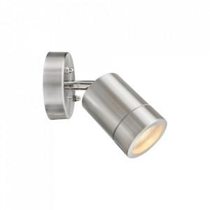 Spot argintiu din metal si sticla pentru exterior Mercury Design MW Glasberg