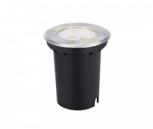 Spot negru din aluminiu si plastic acrilic cu 3 LED-uri pentru gradina Garden Ground Markslojd