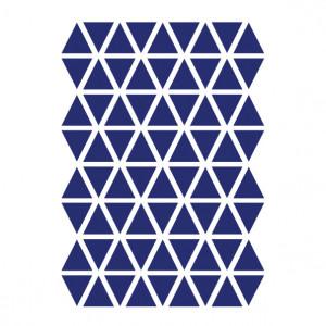 Sticker pentru perete albastru din vinil Mini Triangles Ferm Living