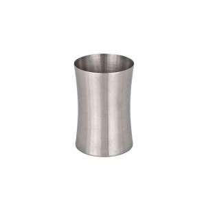 Suport argintiu din inox pentru periuta dinti 6,7x9,9 cm Pieno Wenko