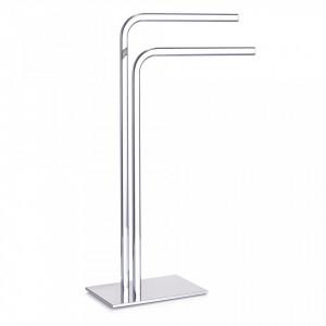 Suport argintiu din metal pentru prosoape Towel Rack Chromed Zeller