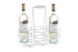 Suport argintiu din metal pentru sticle Bottles Holder Zeller