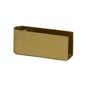 Suport lumanare auriu din fier 4 cm Gili Nordal