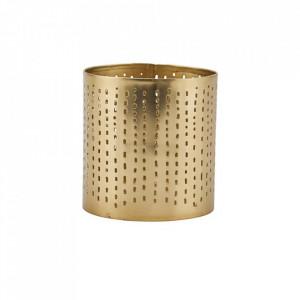 Suport lumanare auriu din fier 9 cm Wilma House Doctor