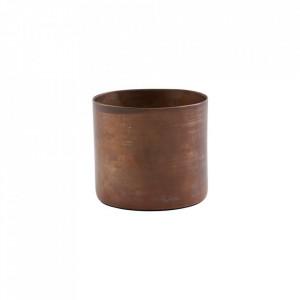 Suport lumanare maro cupru din fier 5 cm Define House Doctor