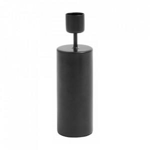 Suport lumanare negru din fier 15 cm Rania Nordal
