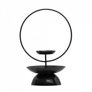 Suport lumanare negru din fier 31 cm Level Be Pure Home