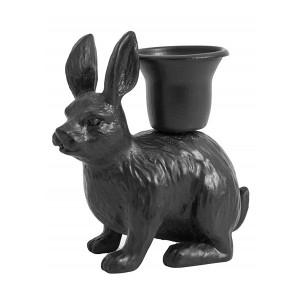 Suport lumanare negru din fier 8 cm Rabbit Nordal