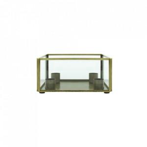 Suport lumanari din fier si sticla 8 cm Lave LifeStyle Home Collection