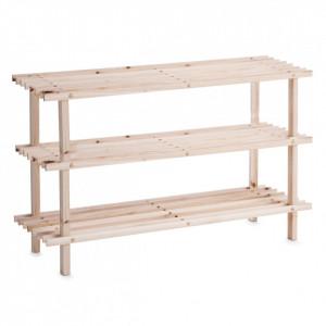 Suport maro din lemn de pin pentru incaltaminte Wood Zeller