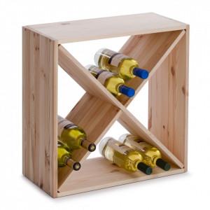 Suport maro din lemn de pin pentru sticle de vin Wood Zeller