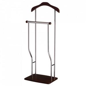 Suport maro din lemn si metal pentru umerase 107 cm Venge Greg Signal Meble