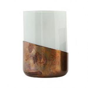 Suport multicolor din sticla pentru lumanare Ellie House Doctor