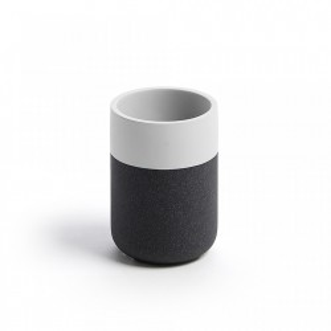 Suport negru cu alb pentru periute dinti 11 cm Lyla Kave Home