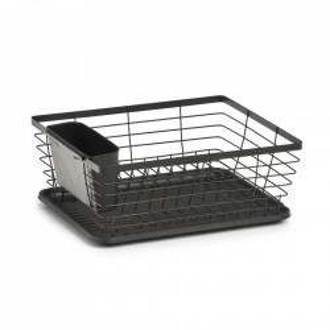 Suport negru din metal si plastic pentru vase Certo Zeller