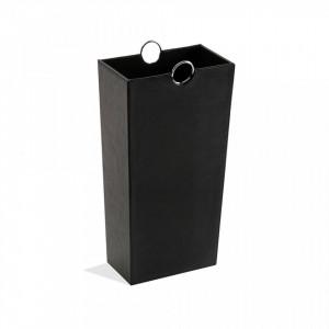 Suport negru din piele pentru umbrela 53 cm Umbrella Stand Black Versa Home