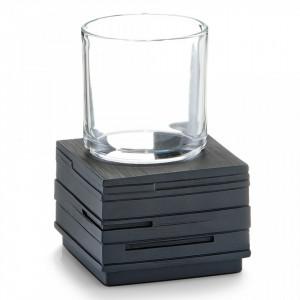 Suport negru din polirasina 8,3x11,5 cm pentru periuta dinti Schiefer Cup Zeller