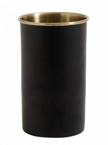 Suport negru/maro alama din inox 6x11 cm pentru periuta dinti Brass Toothbrush Nordal