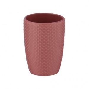 Suport roz din ceramica pentru periuta dinti 8x11 cm Punto Wenko