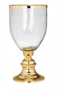 Suport transparent/auriu din sticla si aluminiu pentru lumanare 44 cm Shane Richmond Interiors