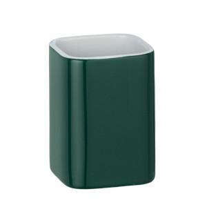 Suport verde din ceramica pentru periuta dinti 6,5x9 cm Elmo Wenko