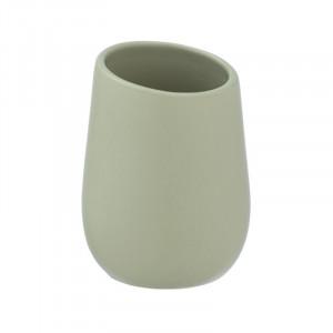 Suport verde lime din ceramica pentru periuta dinti 8x11 cm Badi Wenko